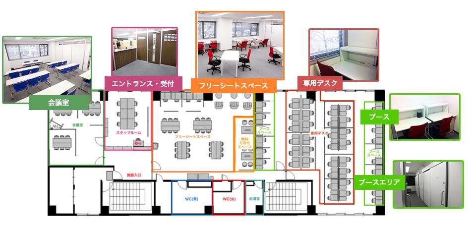 渋谷オフィスのレイアウト